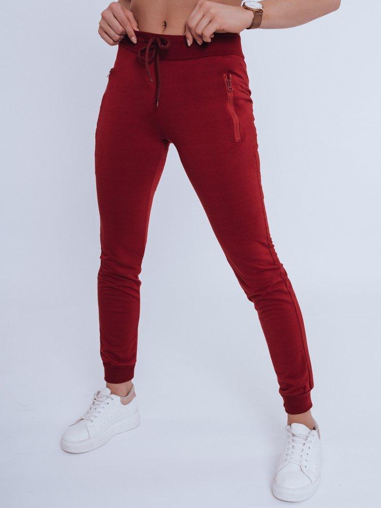 Spodnie damskie dresowe FENDI bordowe Dstreet UY0823