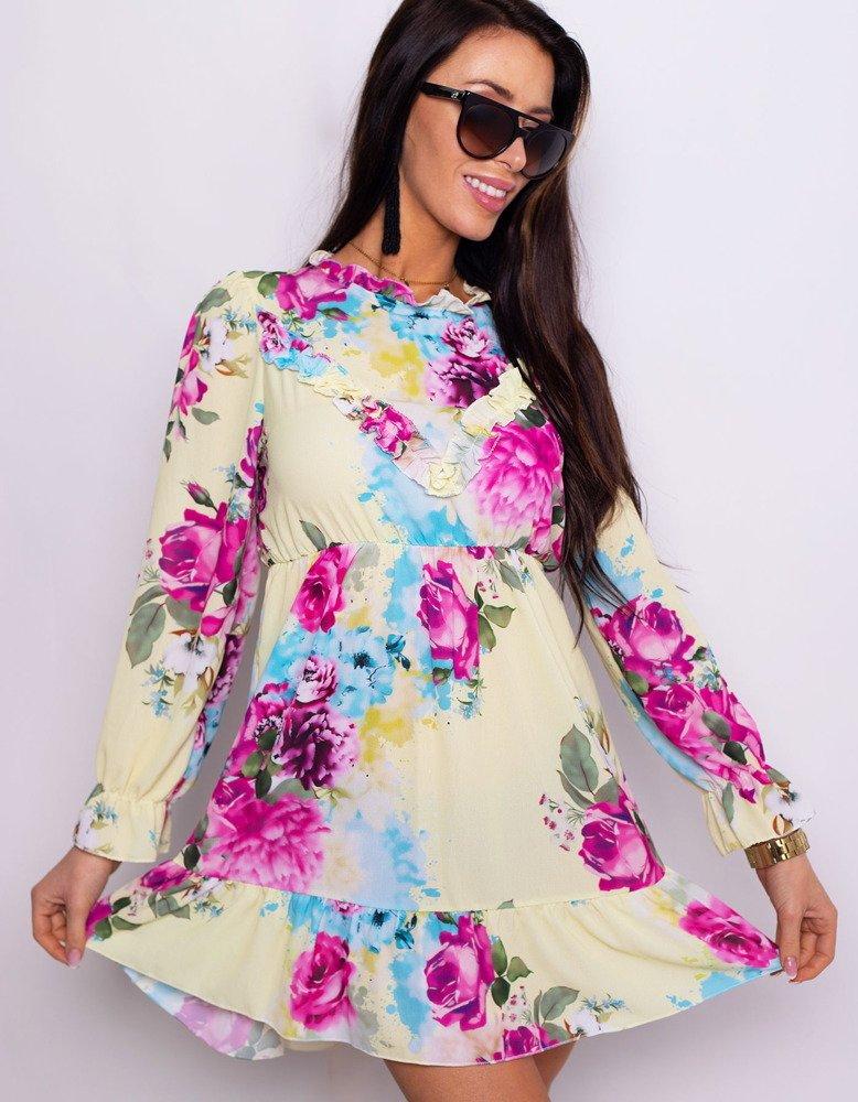Sukienka DE FLOR żółta EY0752