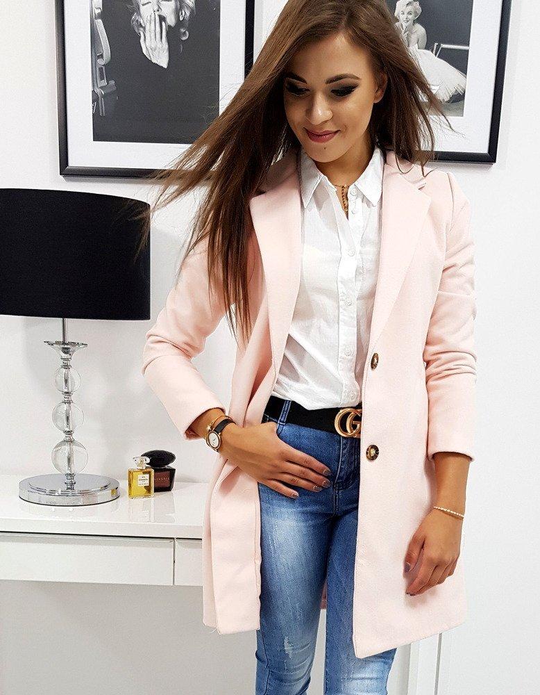Dámsky kabát  pastelovo ružový