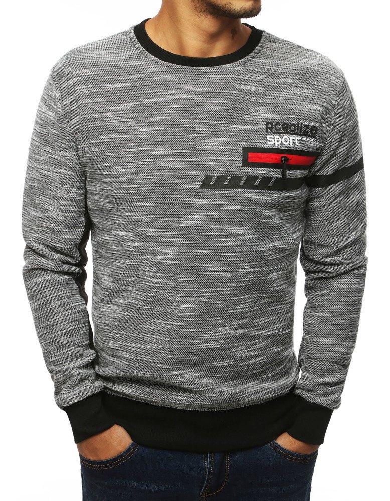 Bluza męska bez kaptura jasnoszara BX4101