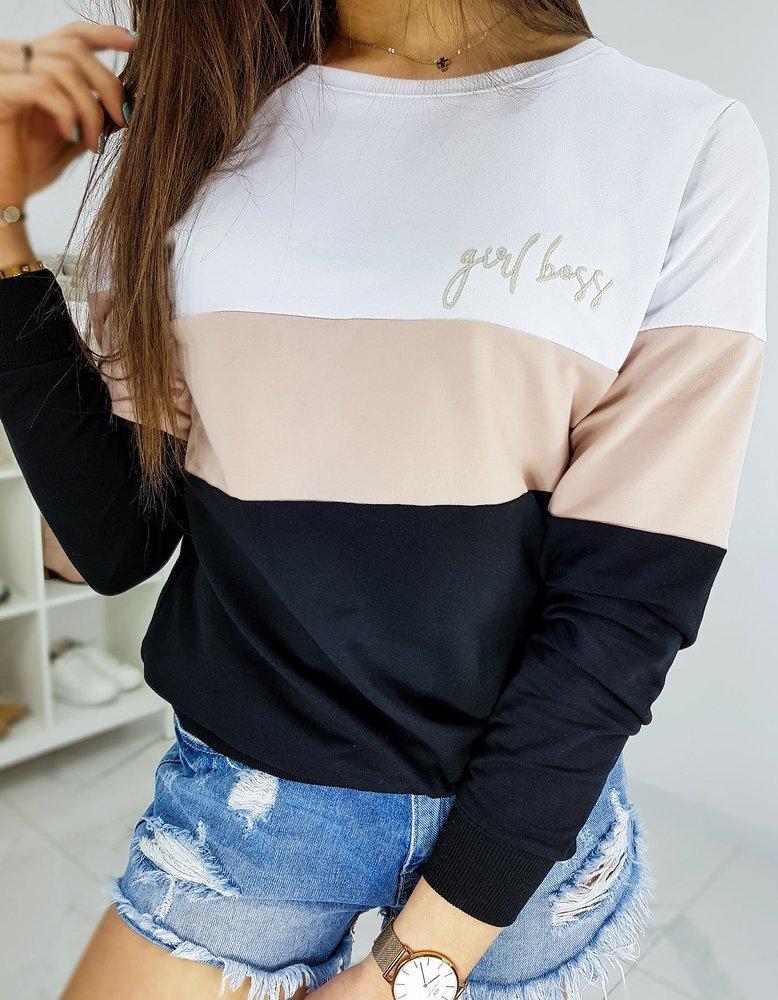 Bluza damska GIRL BOSS biała BY0314