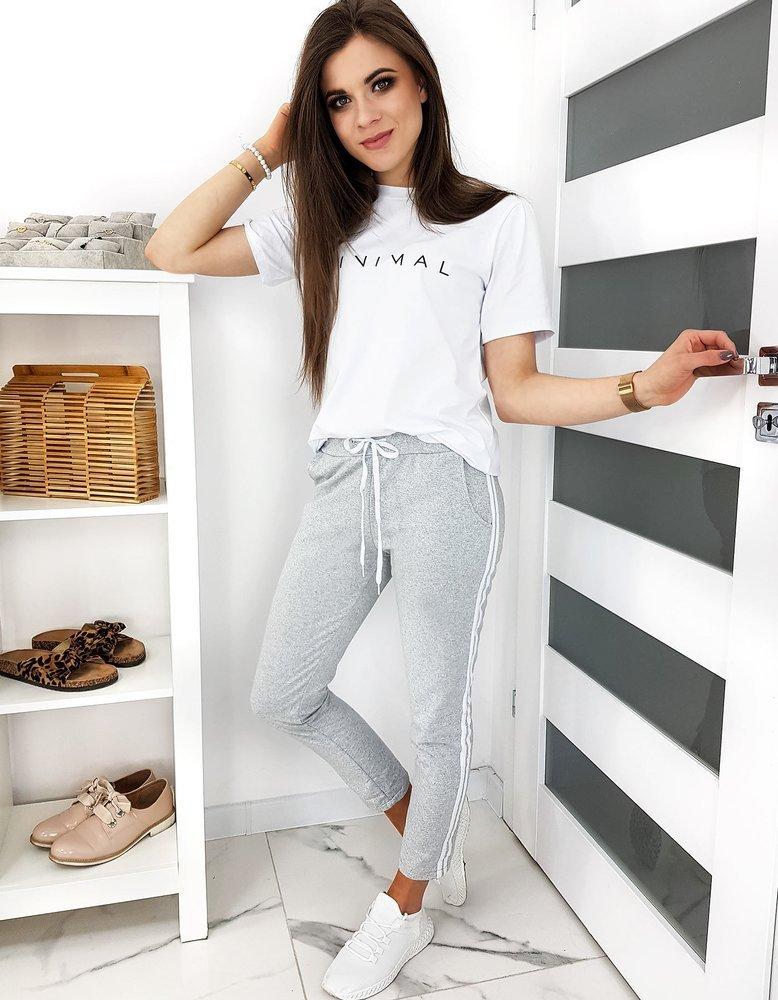 Spodnie dresowe damskie LEYLOS szare UY0504