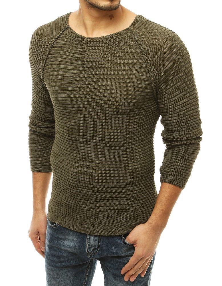 Štýlový pánsky khaki sveter.