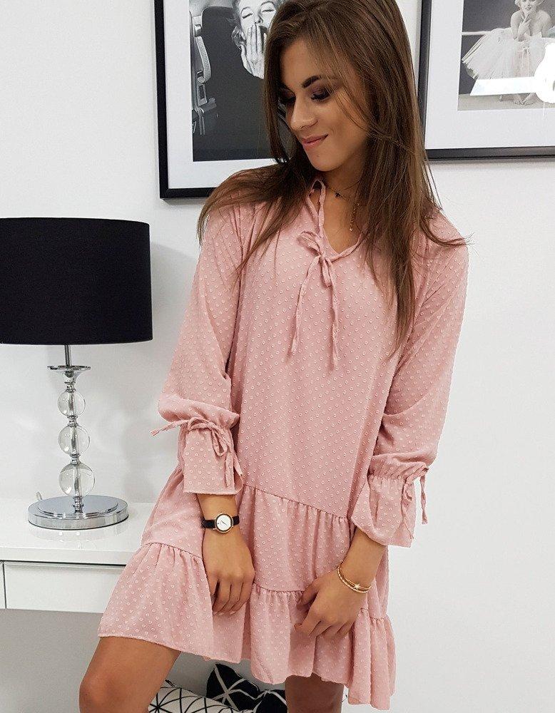 Krásne ružové dámske šaty ROCHA (ey0842)