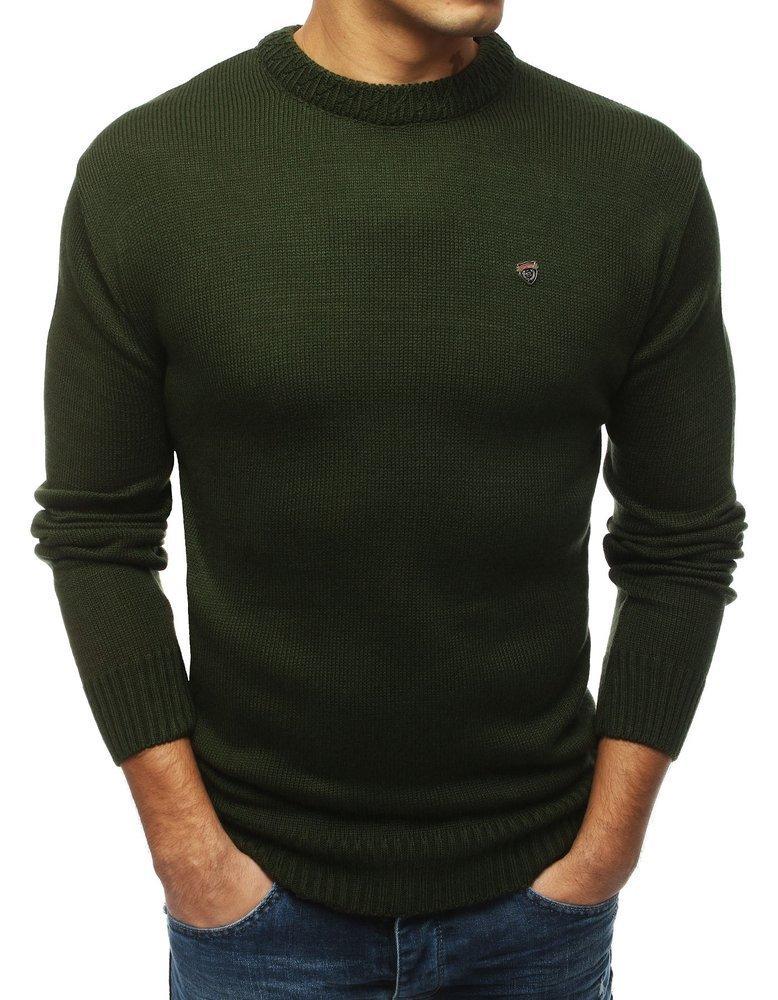 Pánsky sveter v khaki prevedení (wx1427)