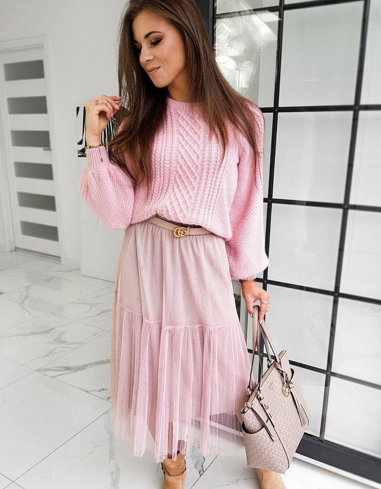 Sweter damski TULIUM różowy MY0796