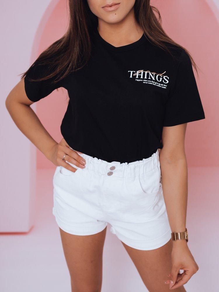 T-shirt damski THINGS GOOD czarny Dstreet RY1760