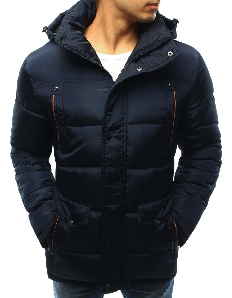 Pánska granátová bunda na zimu (tx2056)