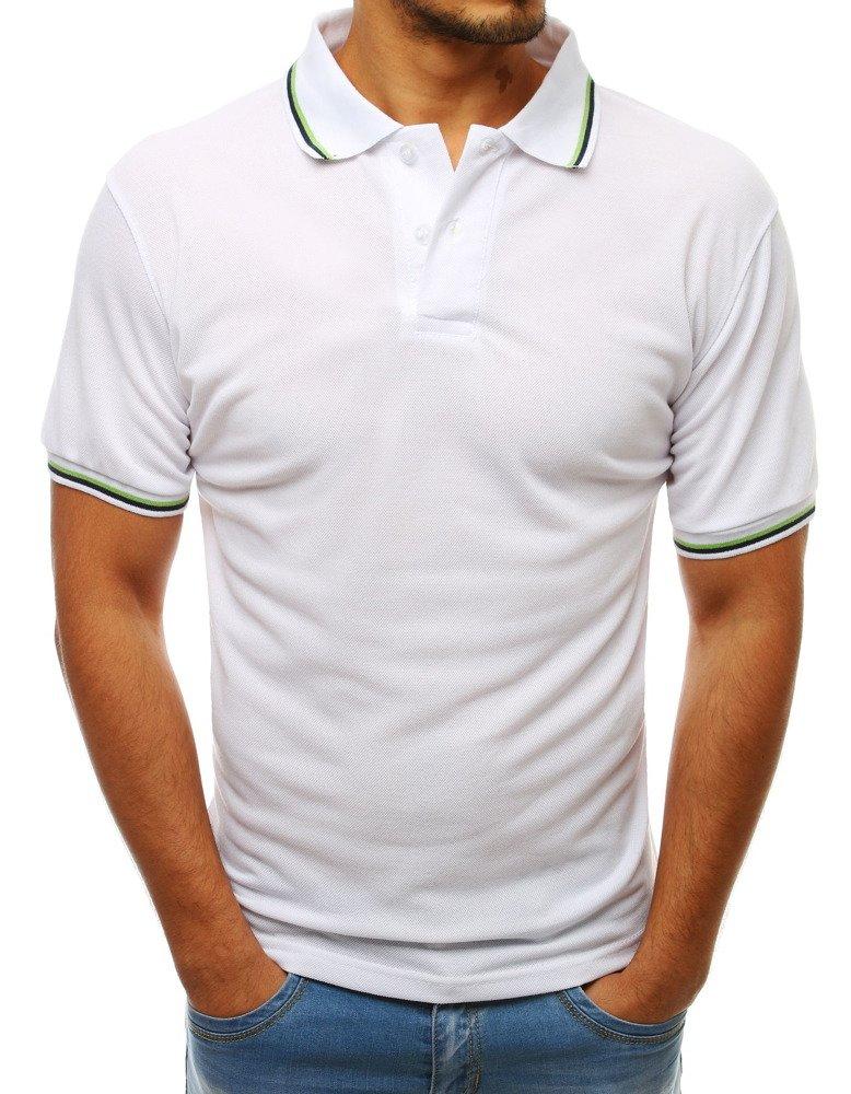 Pánske biele polo tričko