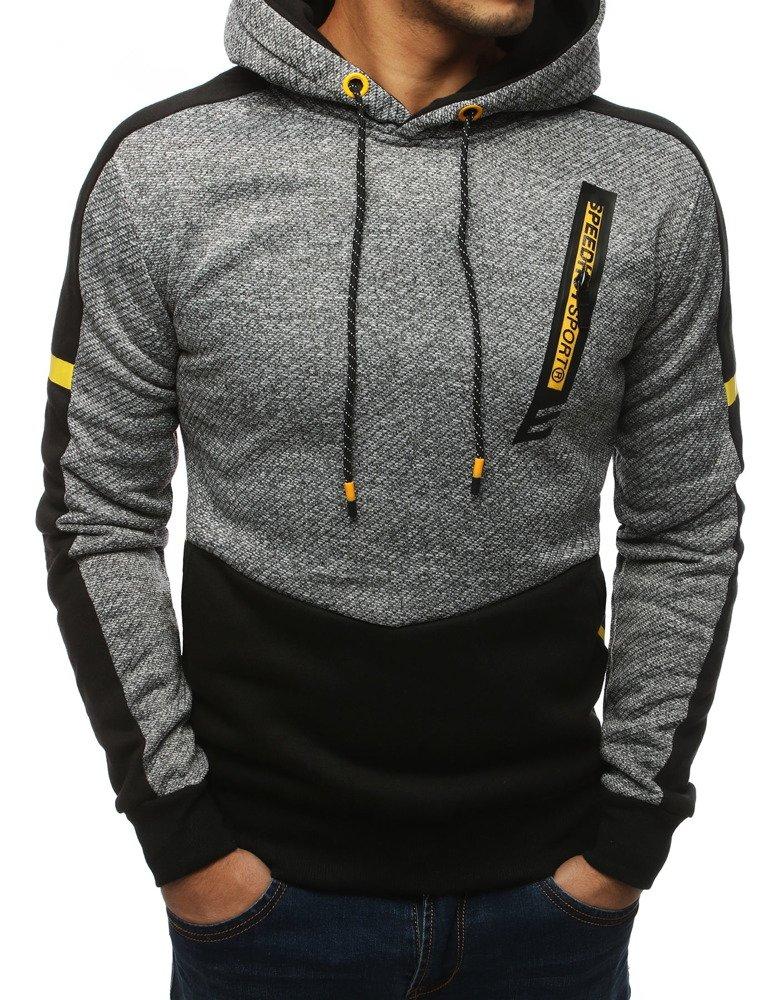 Bluza męska z kapturem antracytowa BX4181