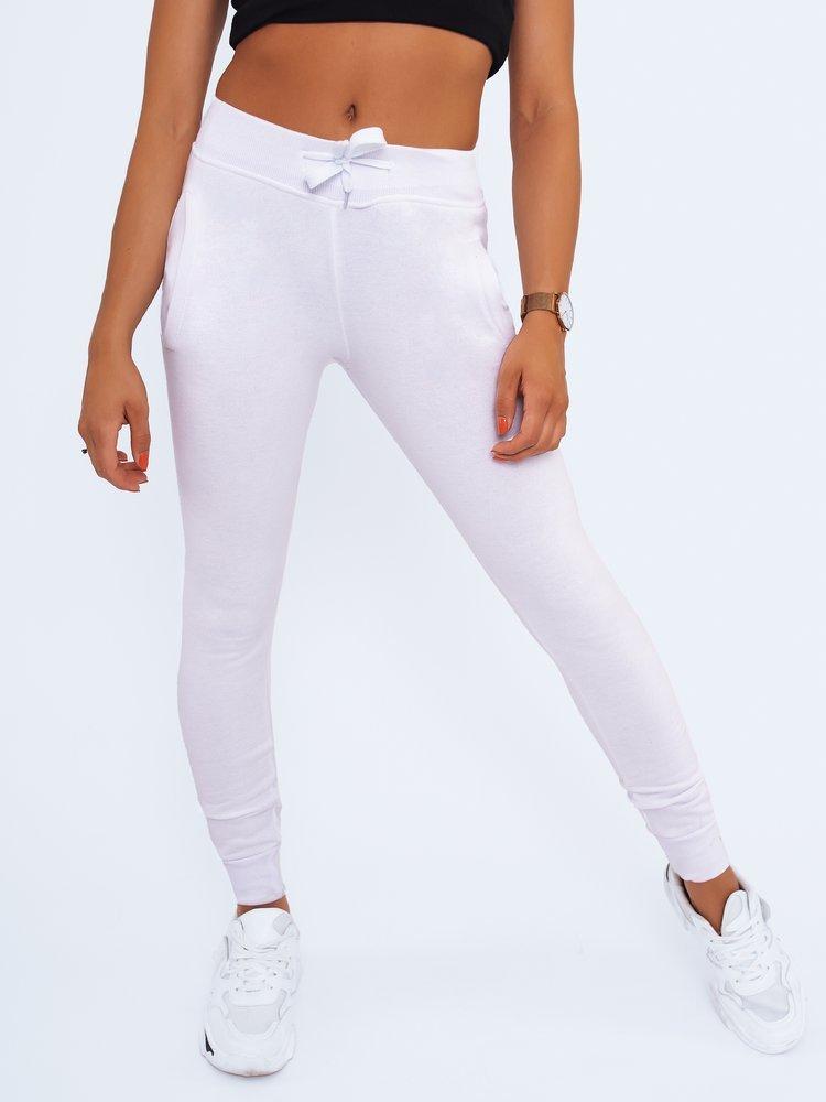 Spodnie damskie dresowe FITS białe UY0134