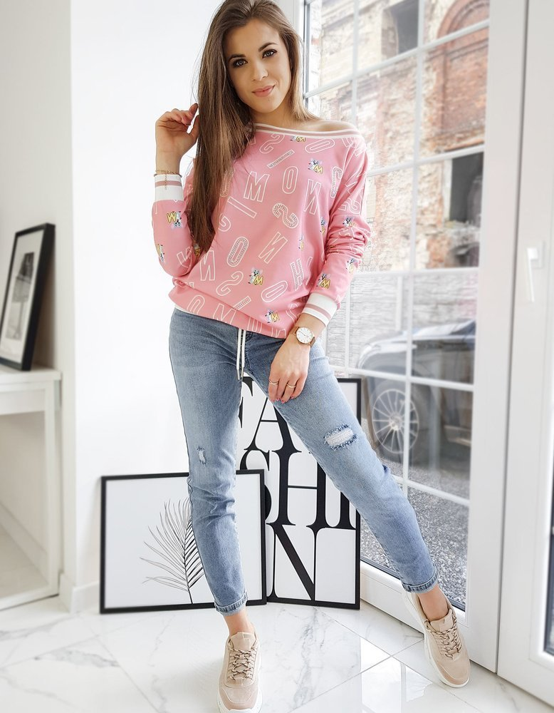 Bluza damska MOUSE różowa BY0670
