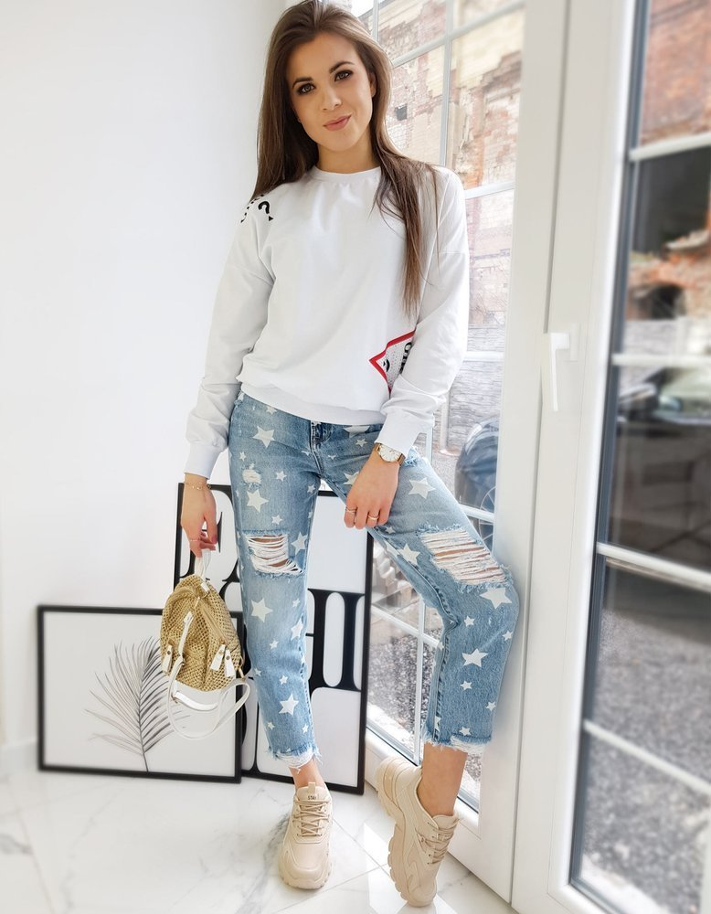 Bluza damska CIARA biała BY0743