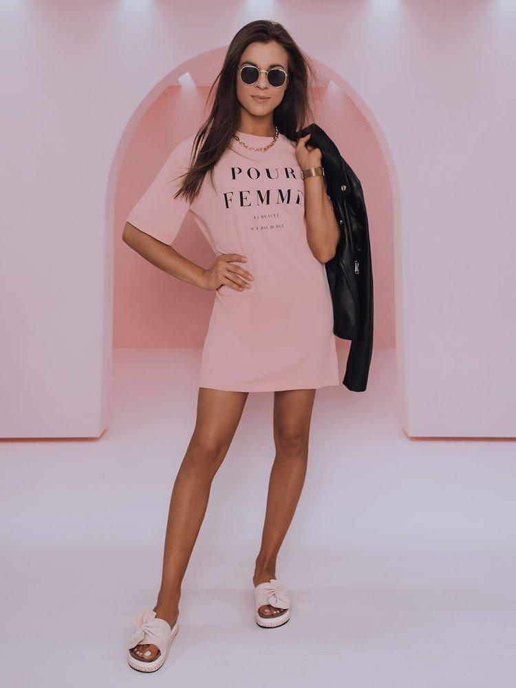 T-shirt damski ELEANOR różowy Dstreet RY1772