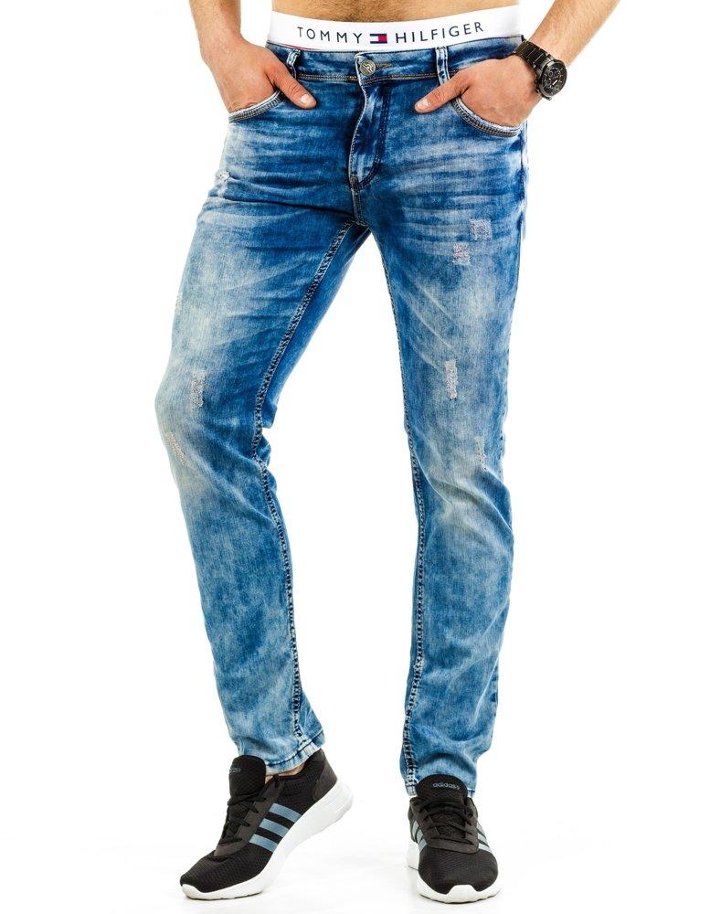 Spodnie jeansowe męskie niebieskie UX0687