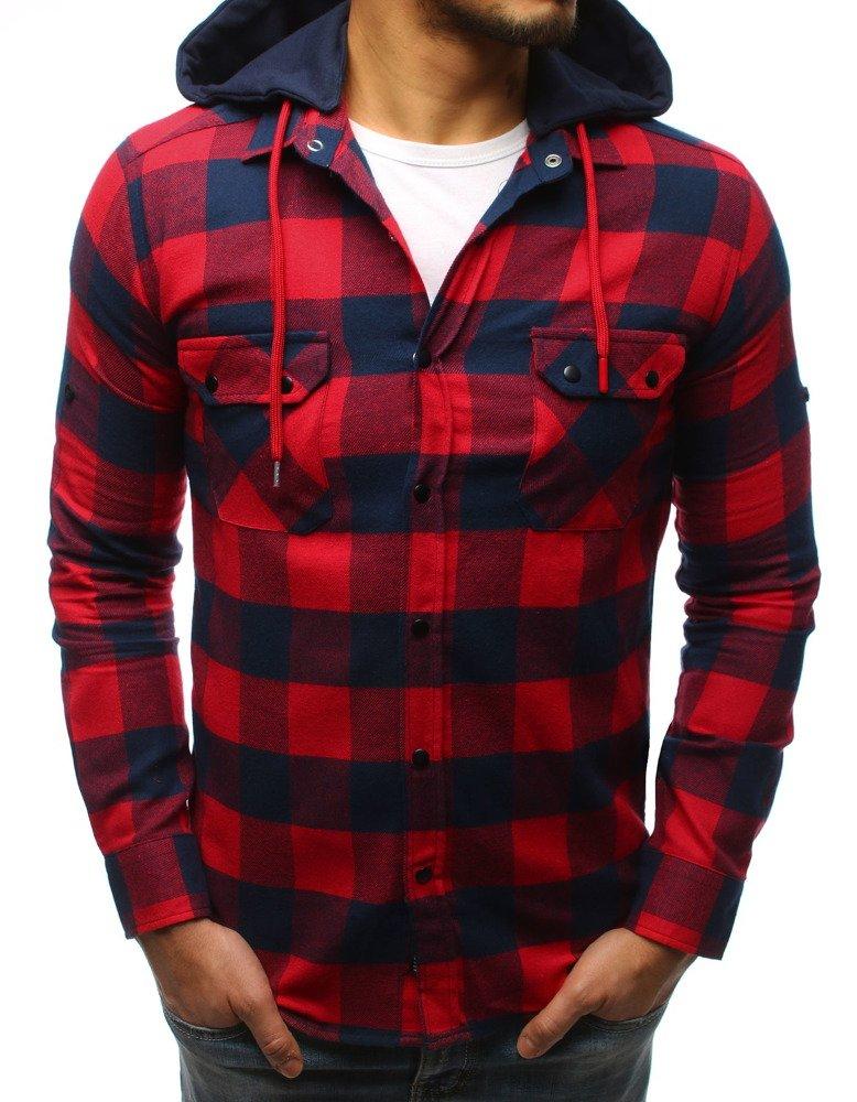Pánska košeľa modro-červená