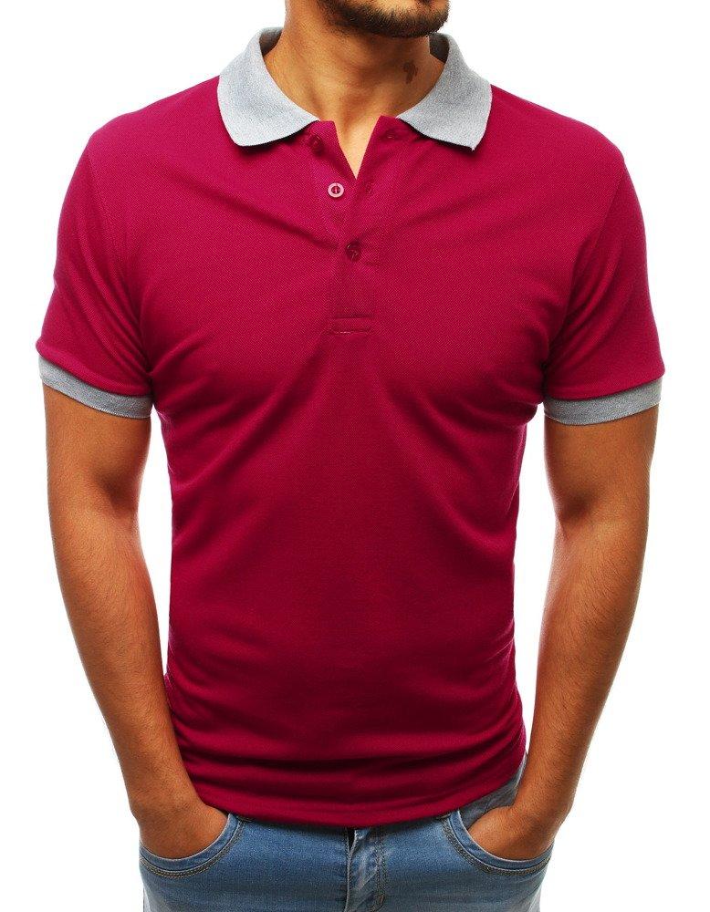 Pánske červené polo tričko