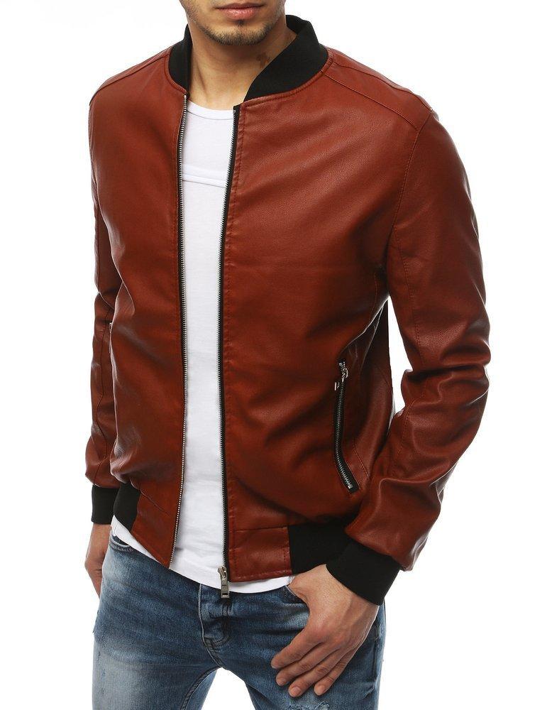Červená pánska koženková bunda TX3316