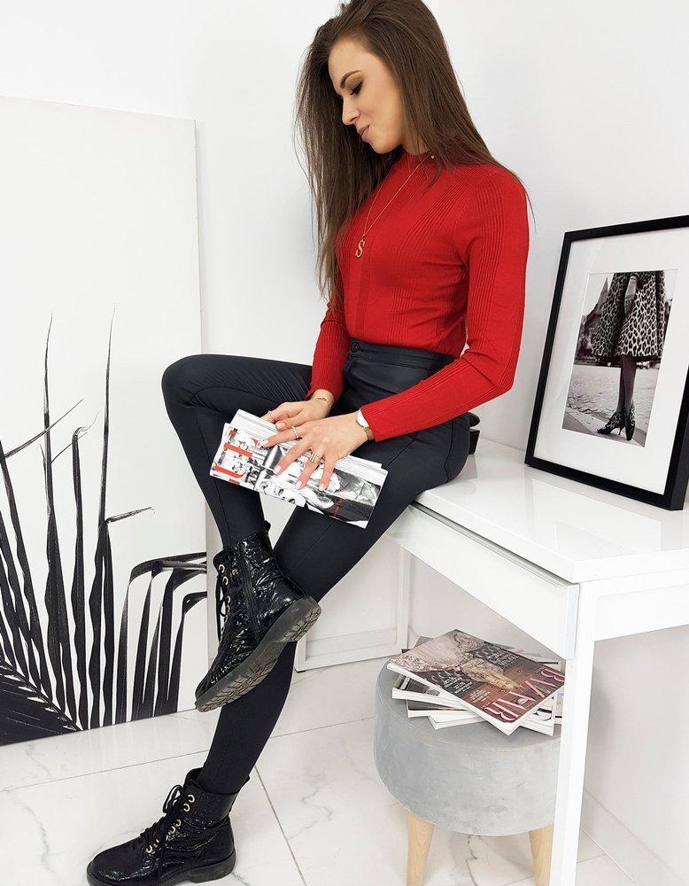 Sweter damski półgolf LILIANA czerwony MY0904