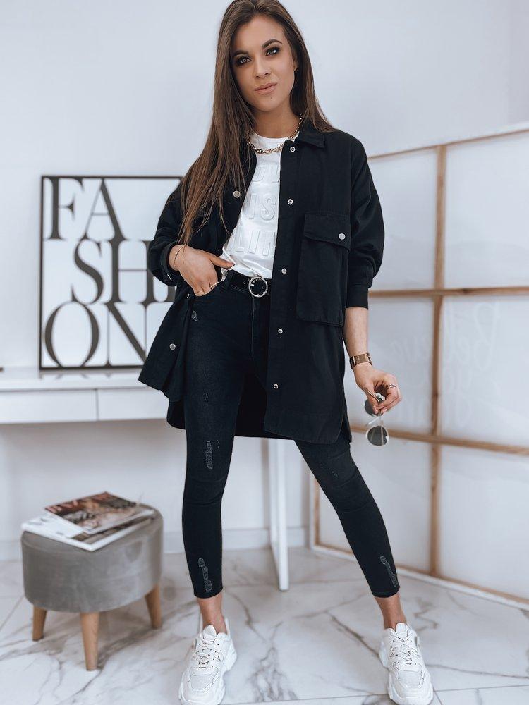 Spodnie damskie jeansowe LINDA czarne Dstreet UY0809