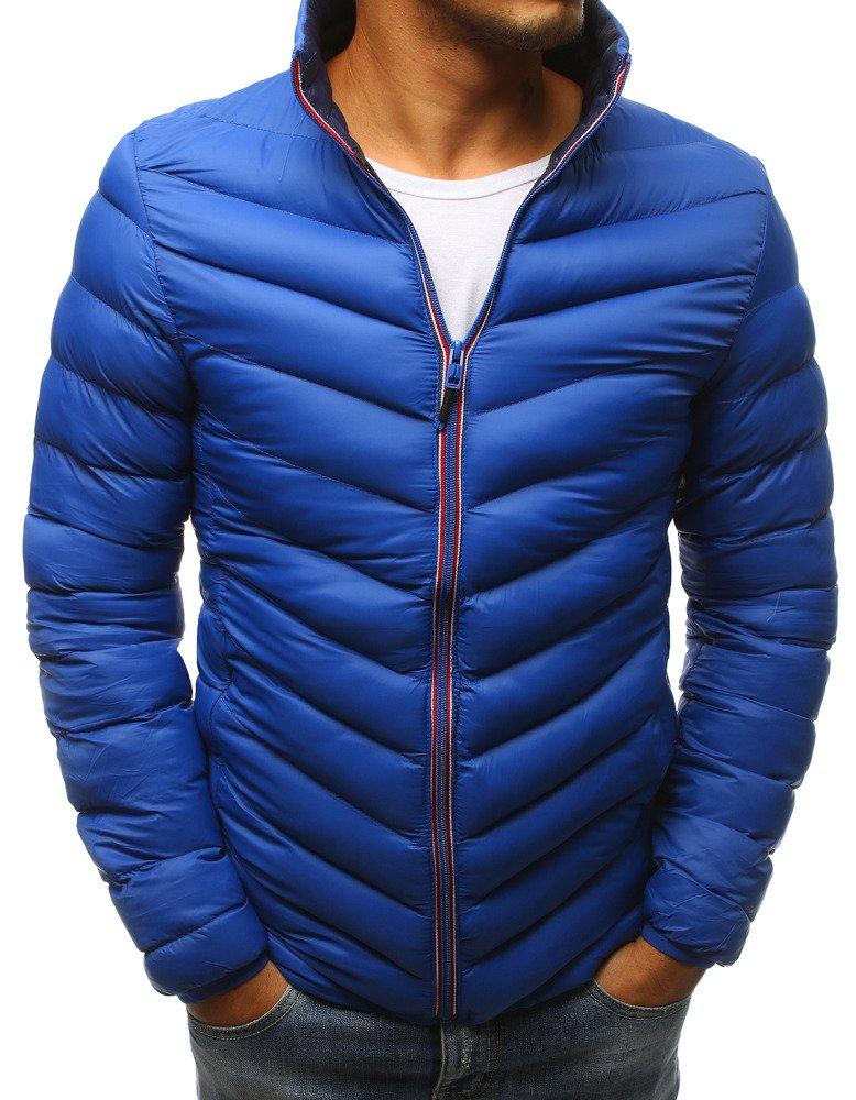 Štýlová modrá zimná bunda pre pánov (tx2378)