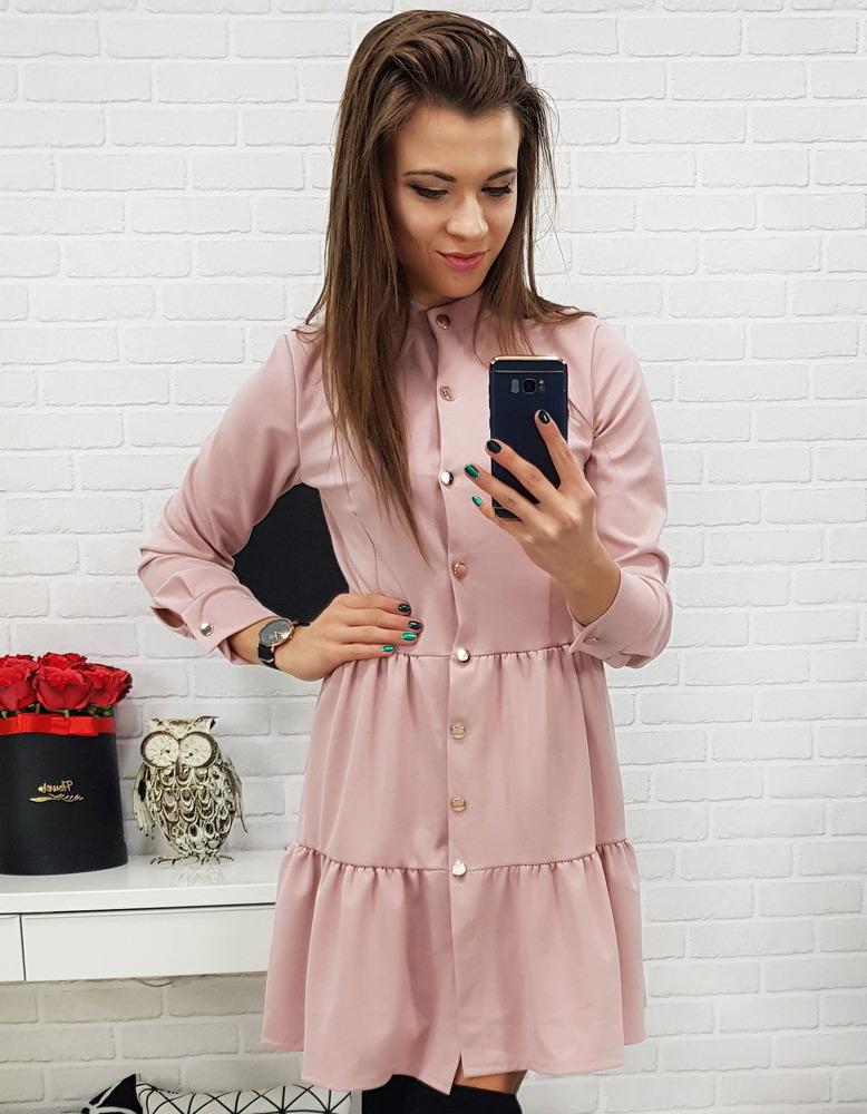 Ružové dámske šaty (ey0595)