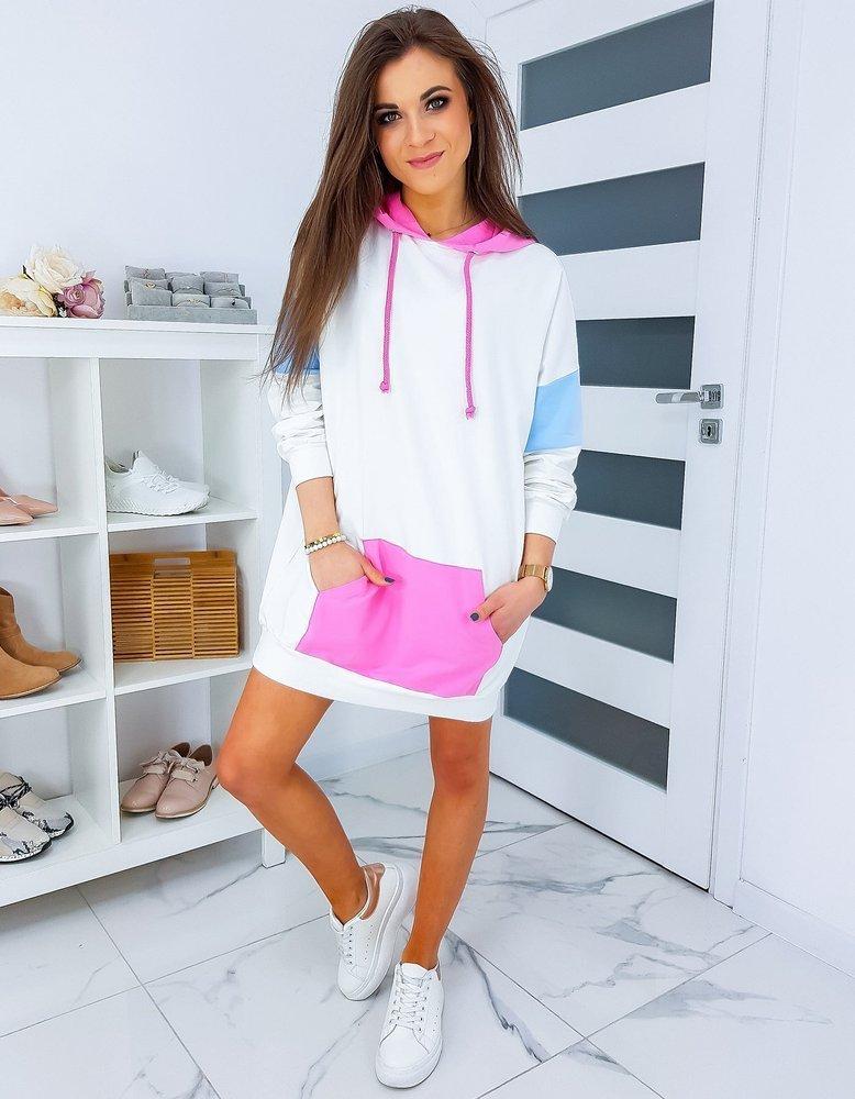 Bluza damska LONGERETTO biała BY0326