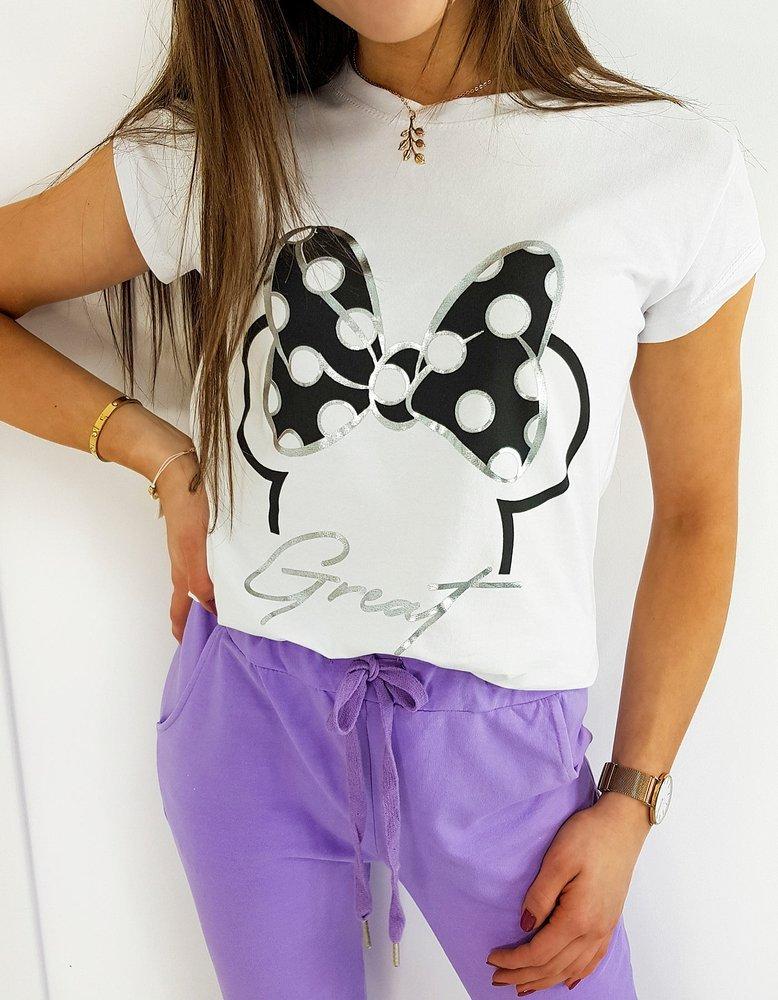 T-shirt damski MINIE GREAT biały RY1423