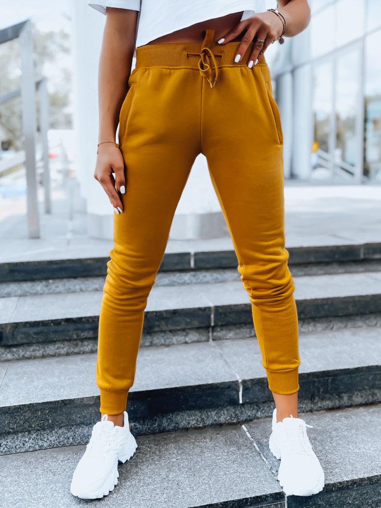 Spodnie damskie dresowe FITS kamelowe UY0552
