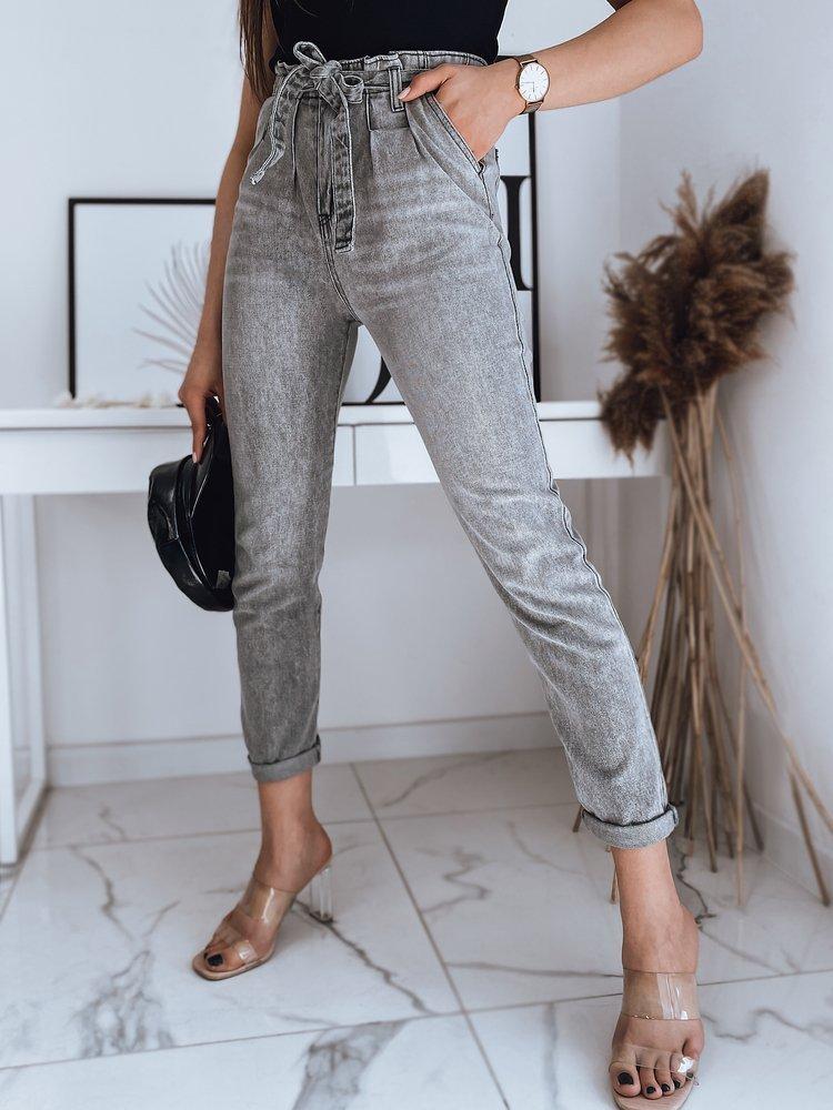 Spodnie damskie jeansowe DELIA szare Dstreet UY0874