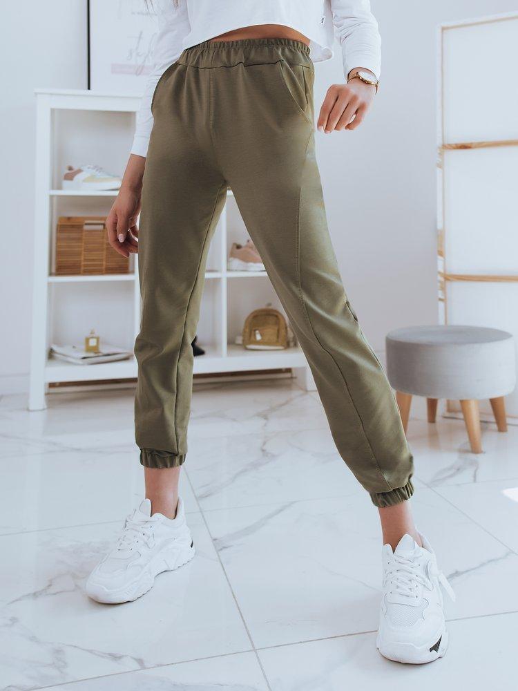 Spodnie damskie dresowe STIVEL oliwkowe Dstreet UY0924