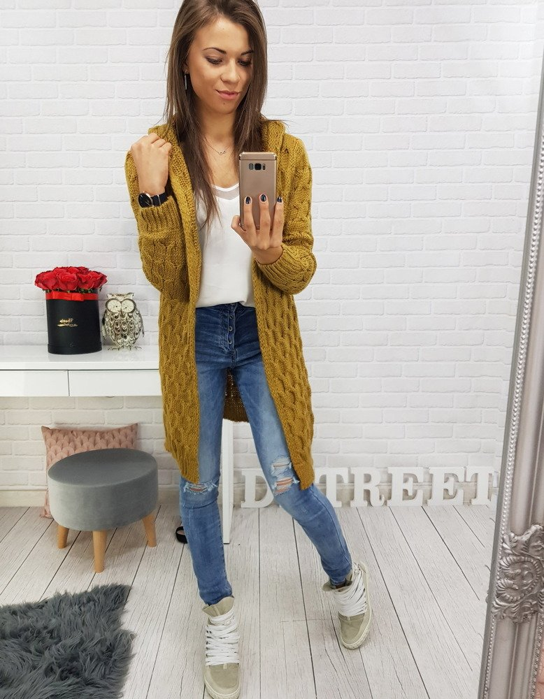 Pekný dámsky dlhý sveter (my0398)