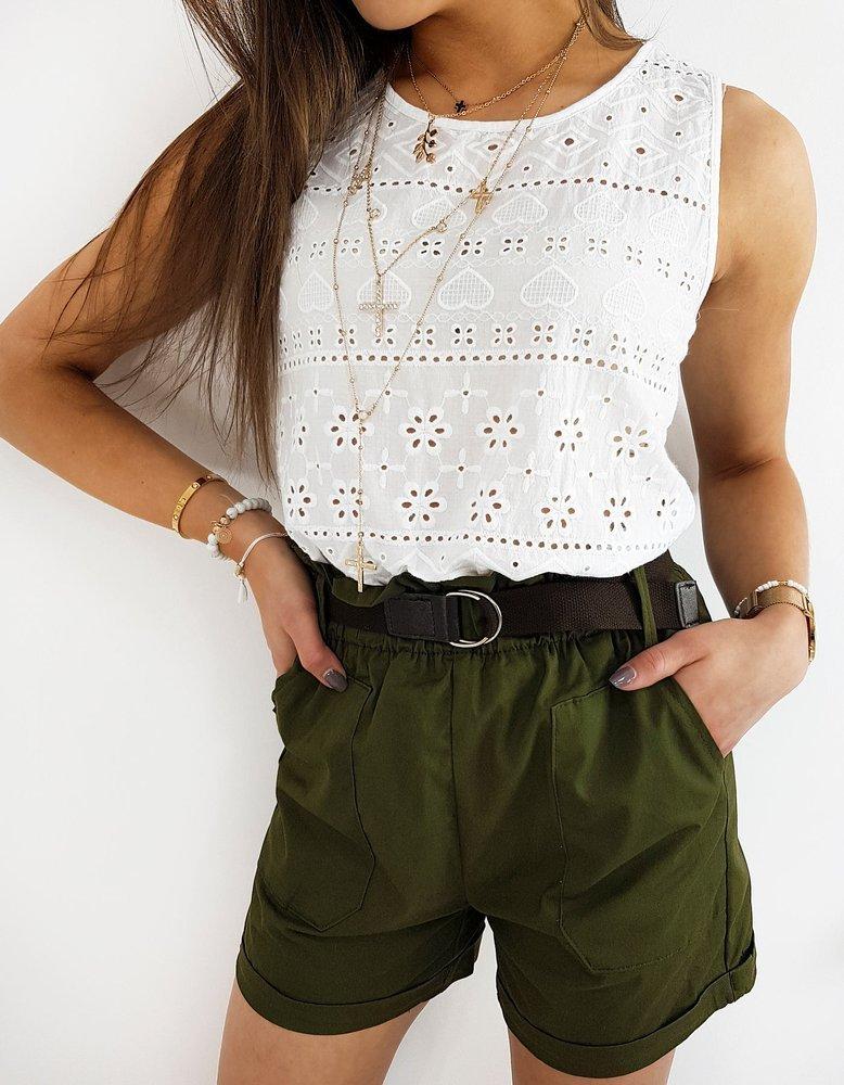 Bluzka damska NEAPOLI biała RY1398