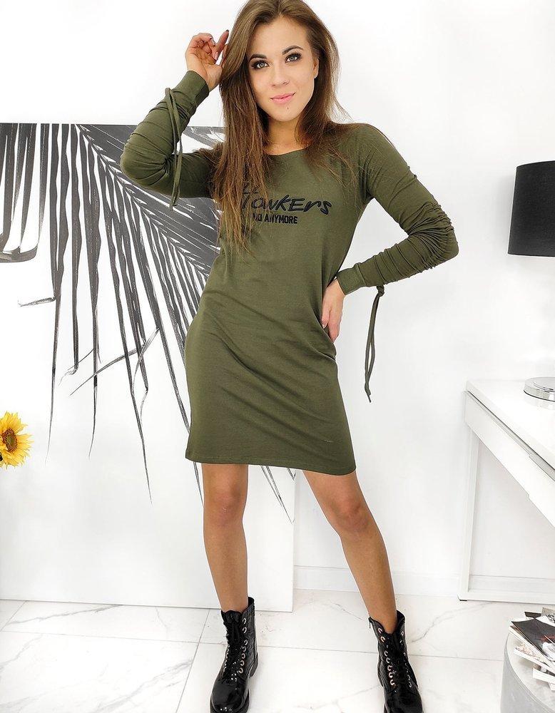 Olivovo-zelené dámske šaty HOWKERS.