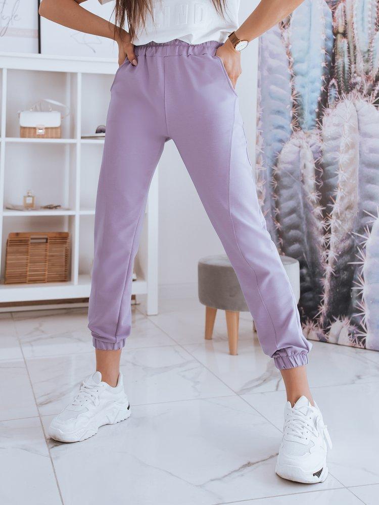 Spodnie damskie dresowe STIVEL lawendowe Dstreet UY0934