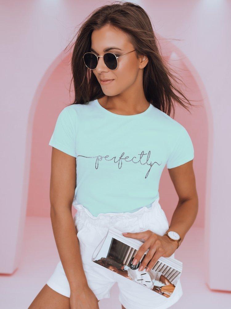 T-shirt damski PERFECTLY miętowy Dstreet RY1800