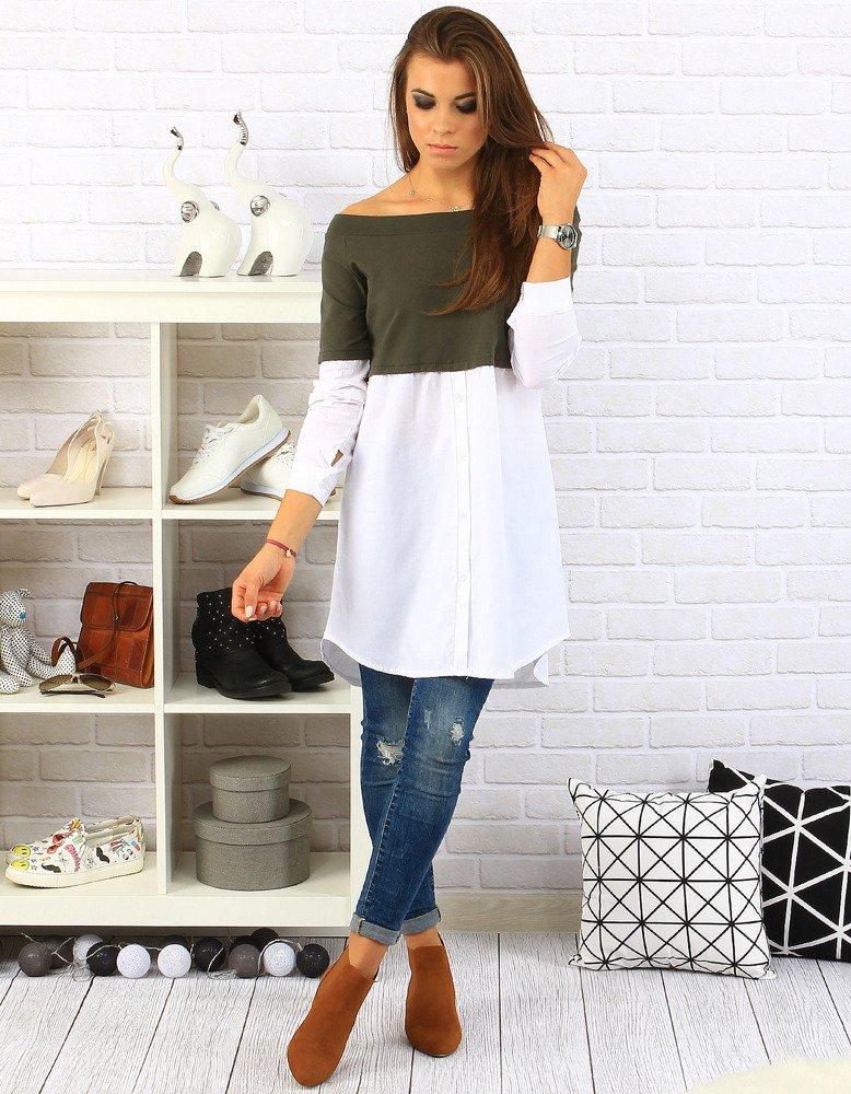 Koszula Isabelle biel/khaki (ry0125)