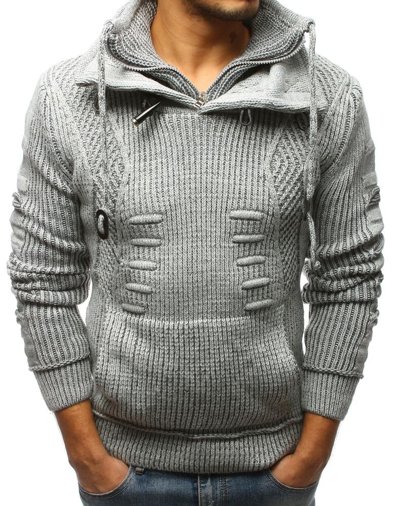 Pánsky sveter sivý