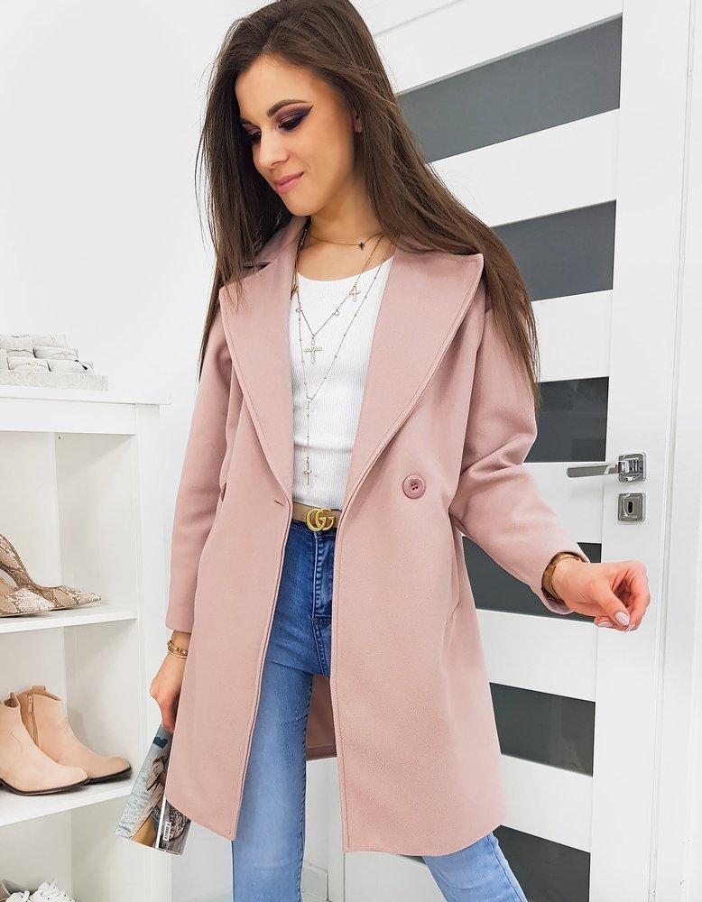 Płaszcz damski SEVENTO różowy Dstreet NY0328