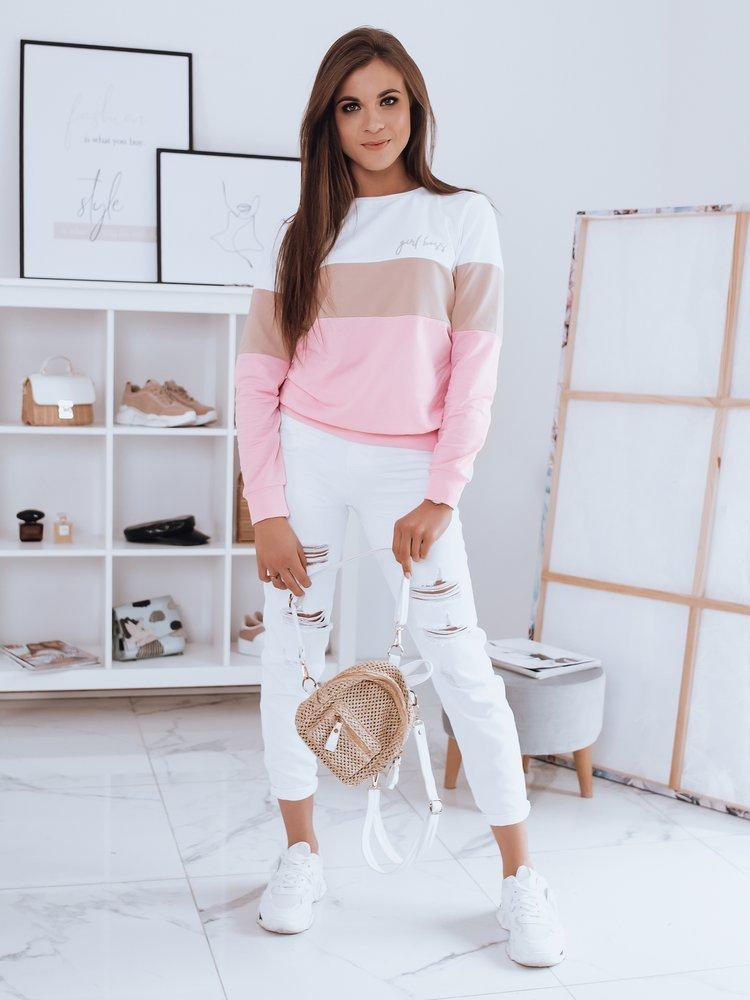 Bluza damska GIRL BOSS biała BY0350