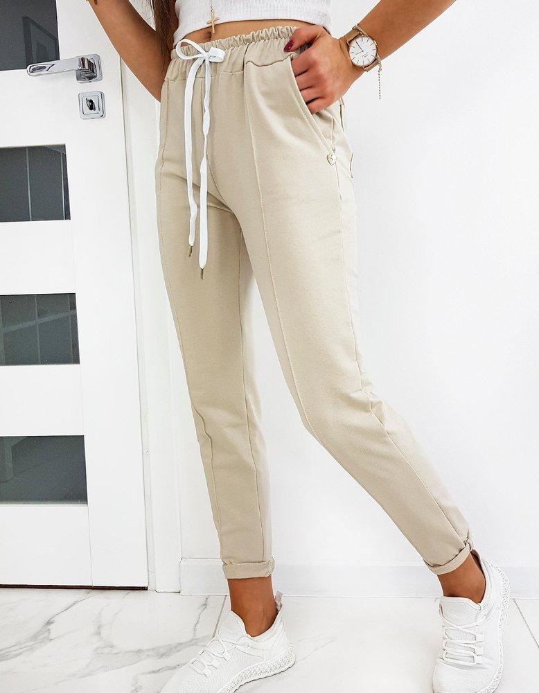 Spodnie damskie MISTIC beżowe Dstreet UY0513