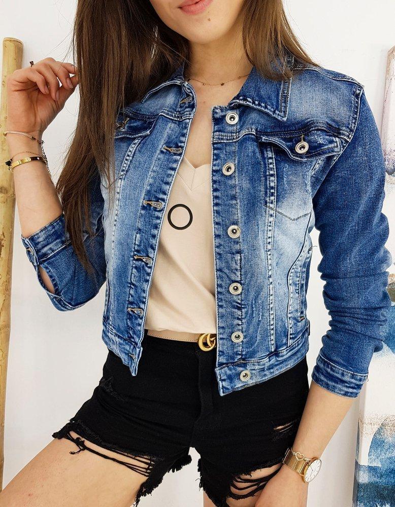 Kurtka damska jeansowa OSTIN niebieska TY1258