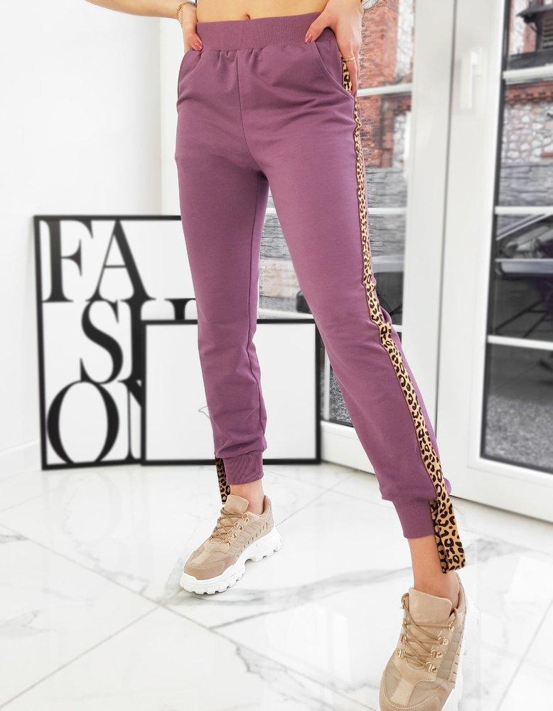 Spodnie damskie RODNEY fioletowe UY0744