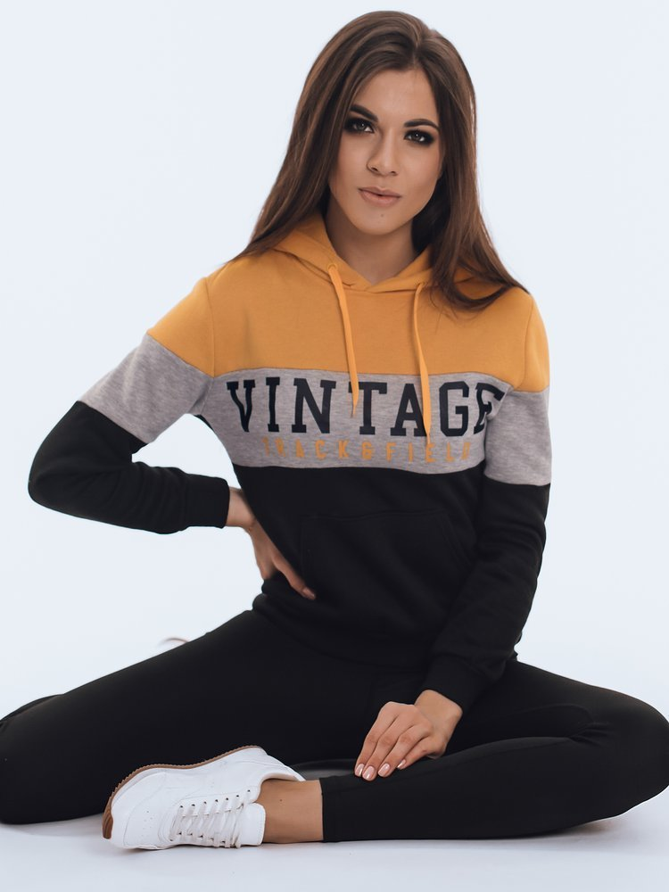Bluza damska dresowa VINTAGE czarna BY0830