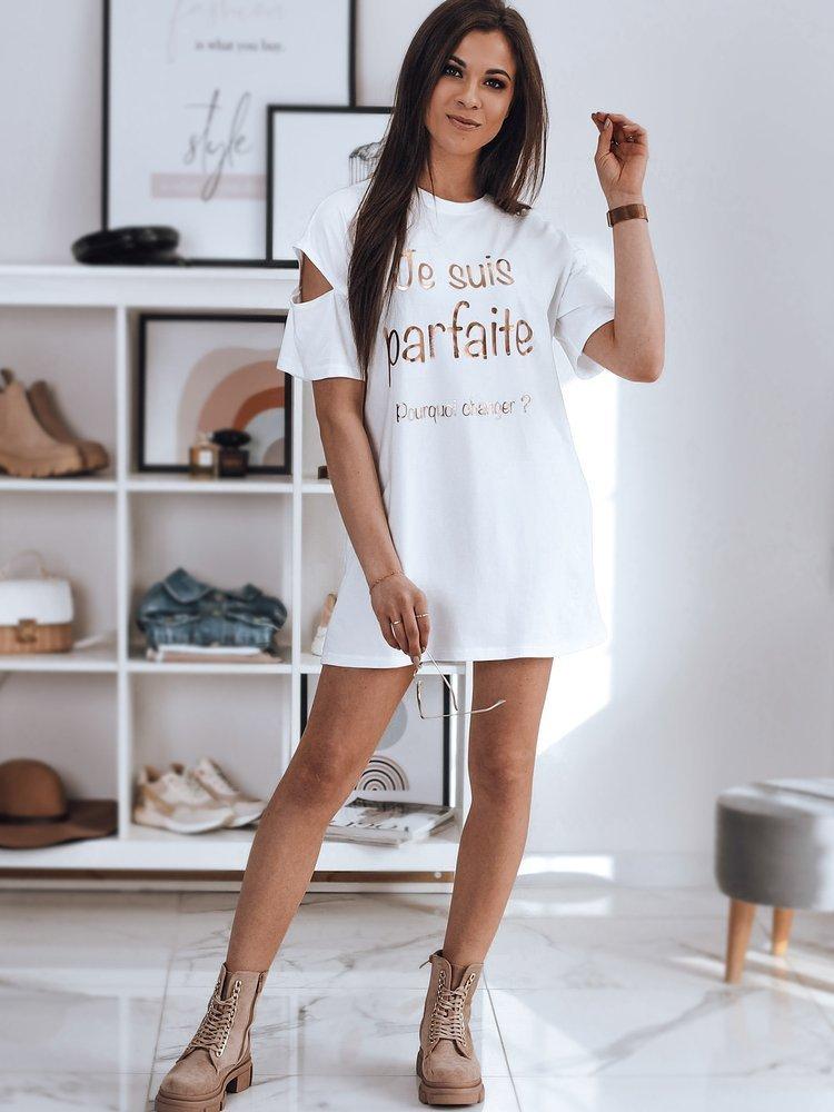 T-shirt damski JANIA biały Dstreet RY1617