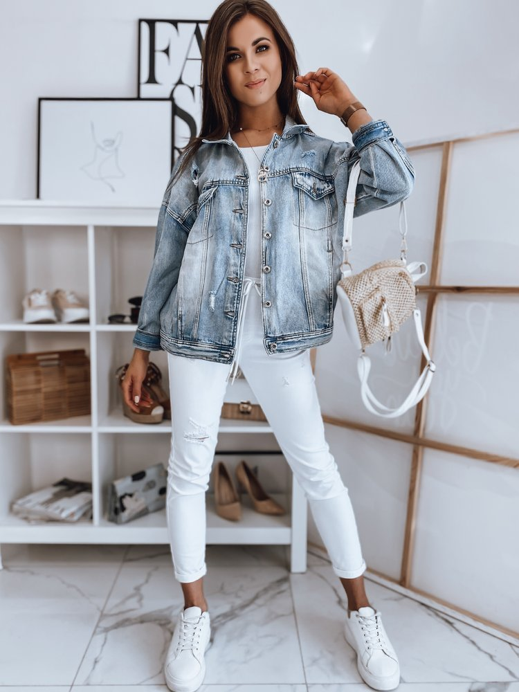Kurtka damska jeansowa DOROTHY niebieska TY1665