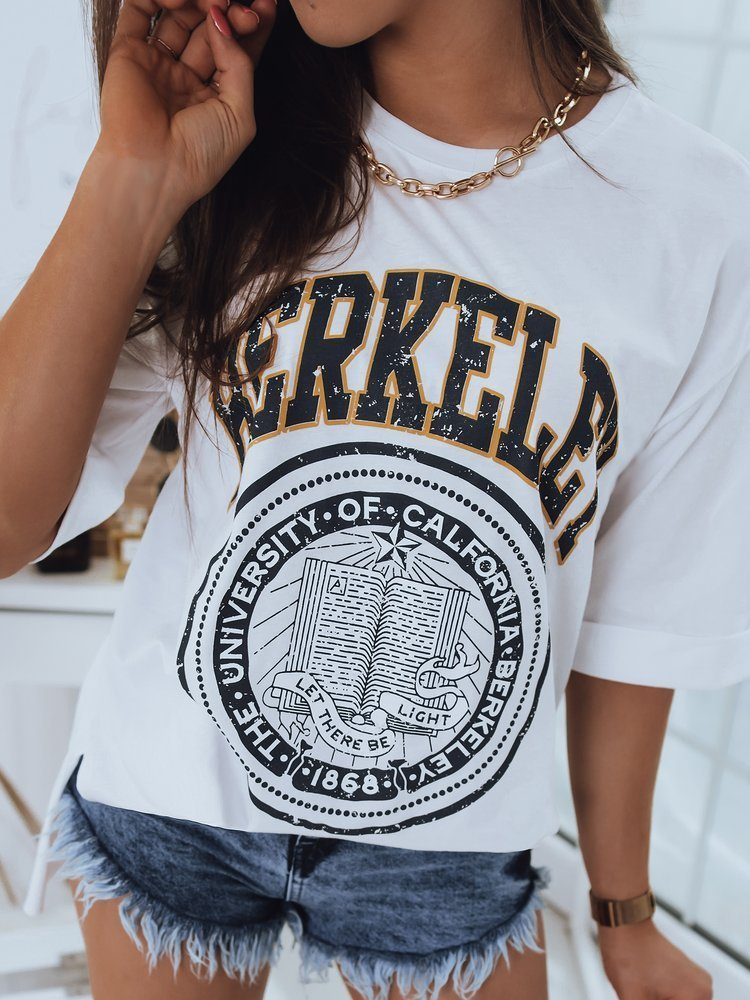 T-shirt damski BERKELEY biały Dstreet RY1682
