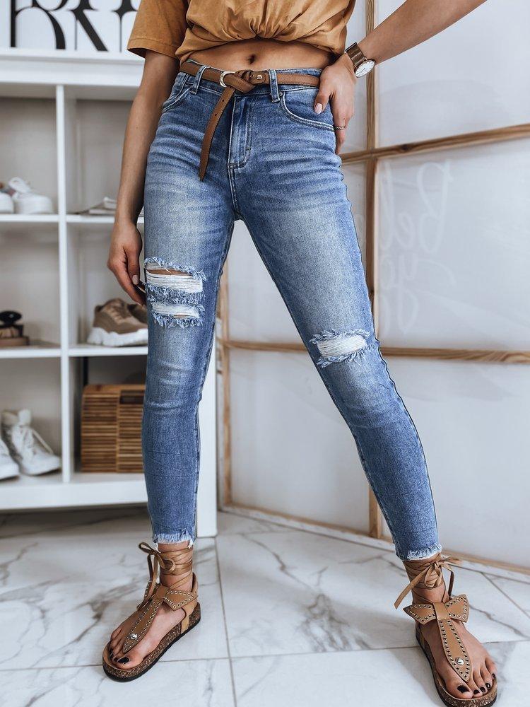 Spodnie damskie jeansowe HIGH niebieskie Dstreet UY0858