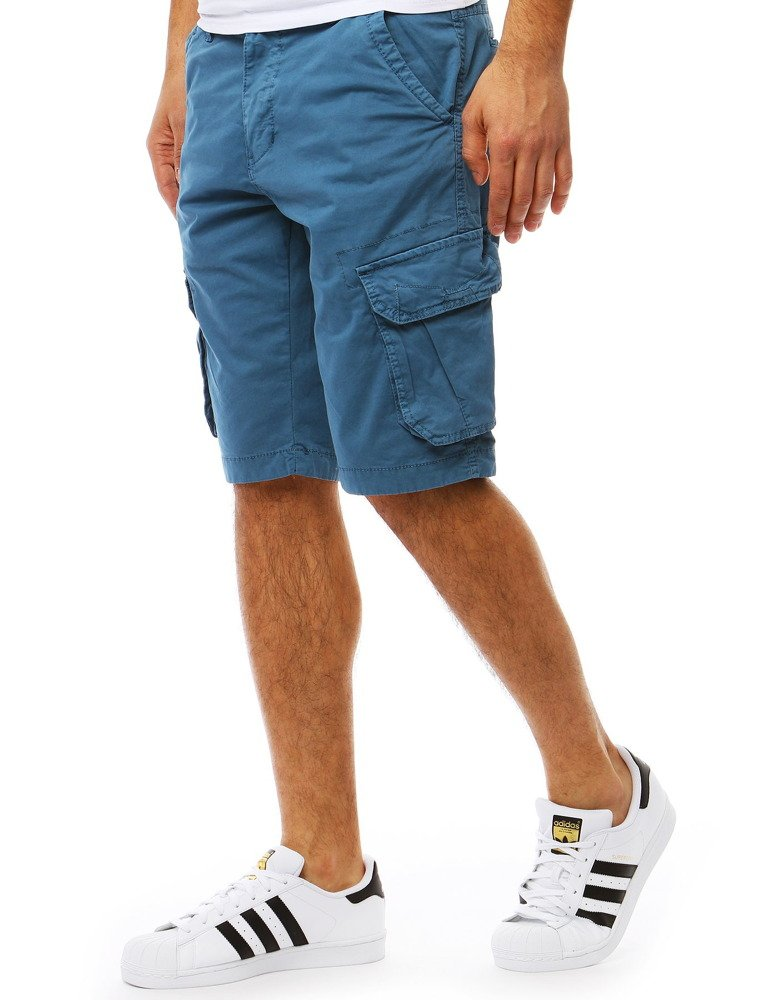 Šortky pánske modré s vreckami