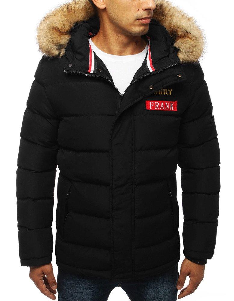 Trendová zimná pánska bunda čiernej farby (tx2947)